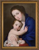 Blue Madonna and Child Framed Art