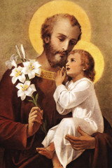 St. Joseph (Younger) Indoor Outdoor Aluminum Print