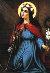 St. Philomena Indoor Outdoor Aluminum Print