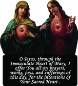 Sacred and Immaculate Hearts Visor Clip