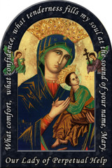 Mother of Perpetual Help Prayer Arched Magnet