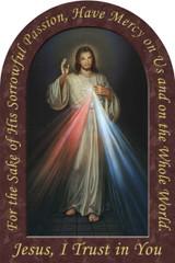 Divine Mercy Prayer Arched Magnet