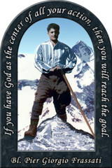 Bl. Pier Giorgio Prayer Arched Magnet