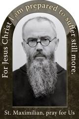 St. Maximilian Kolbe Prayer Arched Magnet