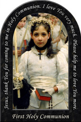 After the First Holy Communion (Detail 1 Girl) Prayer Arched Magnet