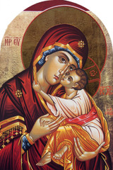 Icon of Mary Arched Magnet