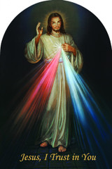 Divine Mercy Arched Magnet
