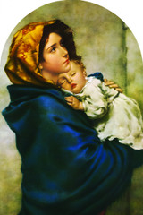 Madonna of the Streets Arched Magnet