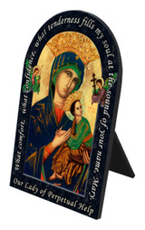 Mother of Perpetual Help Prayer Arched Desk Plaque