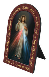Divine Mercy Prayer Arched Desk Plaque