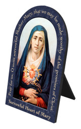 Sorrowful Mother Prayer Arched Desk Plaque