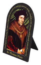 St. Thomas More Prayer Arched Desk Plaque