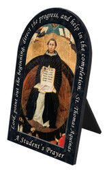 St. Thomas Aquinas Prayer Arched Desk Plaque