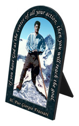 Bl. Pier Giorgio Prayer Arched Desk Plaque
