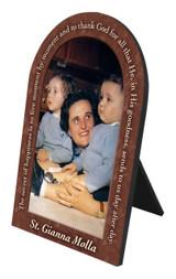 St. Gianna Molla Prayer Arched Desk Plaque