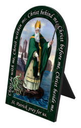 St. Patrick Prayer Arched Desk Plaque