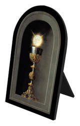 Chalice With Host Arched Desk Plaque II