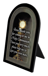 Eucharistic Detail (Prayer) Arched Desk Plaque