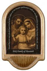Holy Family of Nazareth Prayer Holy Water Font