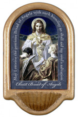 Christ, Bread of Angels Prayer Holy Water Font