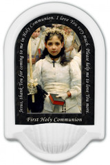After the First Holy Communion (Detail 1 Girl) Prayer Holy Water Font