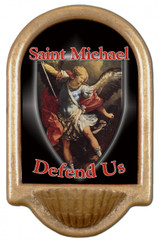 St. Michael Defend Us Holy Water Font