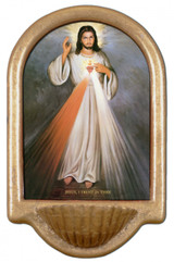 Divine Mercy Full Holy Water Font