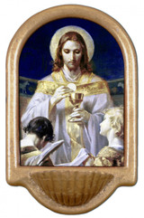 Christ, Bread of Angels Holy Water Font