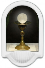 Chalice With Host Holy Water Font