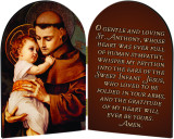 St. Anthony with Jesus Arched Diptych