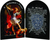 St. Michael Police Officer's Prayer Arched Diptych