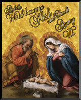 Nativity with Reaching Jesus Graphic Wall Plaque