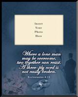Ecclesiastes 4:12 Wedding Vertical Picture Frame (Insert Your Photo)