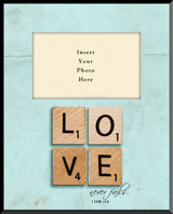 Love Never Fails Vertical Picture Frame (Insert Your Photo)