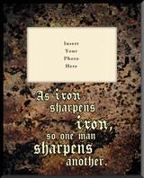 As Iron Sharpens Iron Photo Frame