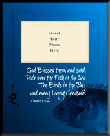 Fishing 'Genesis 1:26' Vertical Picture Frame (Insert Your Photo)