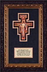 San Damiano Crucifix with Prayer Framed