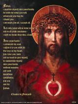 For God So Loved the World Prayer of Abandonment Poster