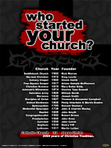 Who Started Your Church Poster