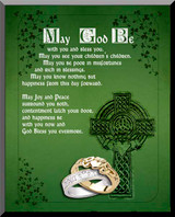 Irish Blessing Graphic Wall Plaque