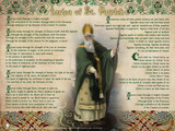 St. Patrick with Prayer Wall Plaque