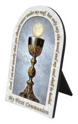My First Holy Communion Arched Desk Plaque