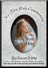 My First Communion (Victorian Pattern) Photo Frame