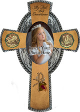 Picture Frame Silver Cross