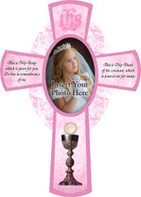 Picture Frame Pink Cross
