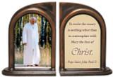 Pope John Paul II (Walking) Rosary Bookends
