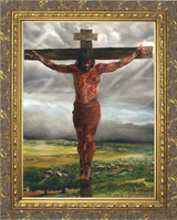 Crucifixion By Jason Jenicke Gold Framed Art