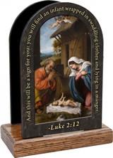 Nativity with Reaching Jesus Prayer Table Organizer (Vertical)