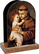 St. Anthony with Jesus Table Organizer (Vertical)