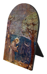 St. Francis with Birds Arched Desk Plaque